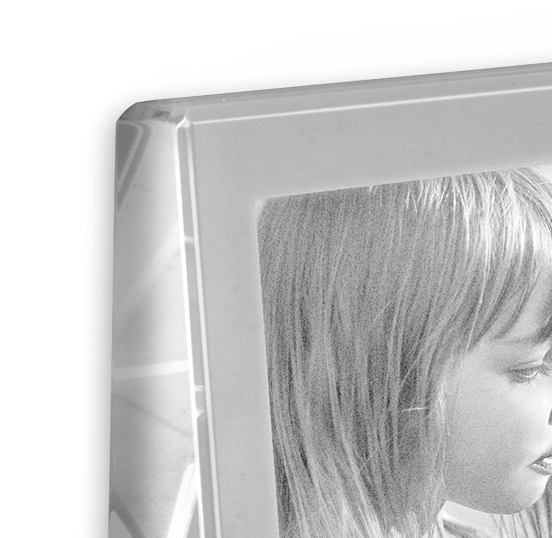 Cadre photo cristal