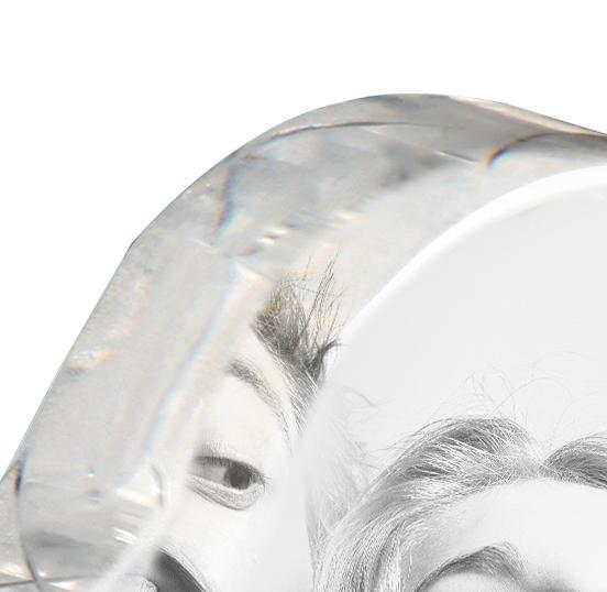 Cœur photo cristal