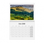Calendrier mural mensuel double page A3
