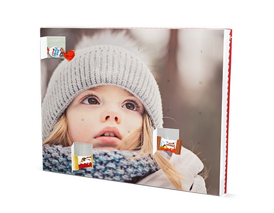 Calendrier photo de l'Avent avec chocolats Kinder®