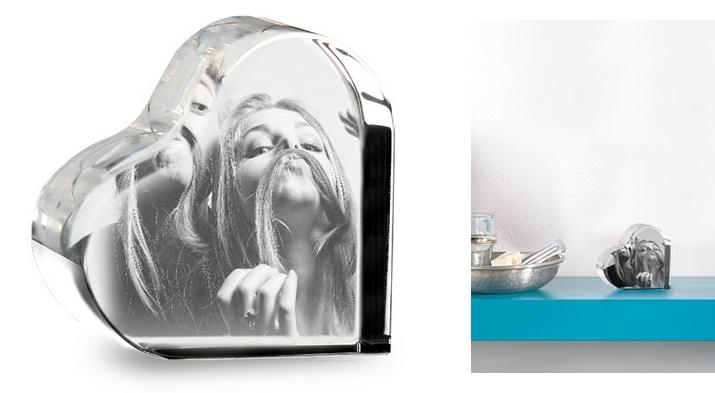 Le coeur personnalisé en verre avec photo de Photocité