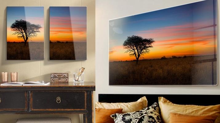 Exemple décoration de photos sous verre grande taille Photocité