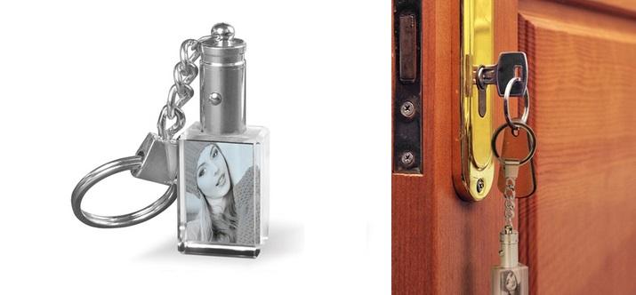 Le porte-clé en cristal pesonnalisable Photocité