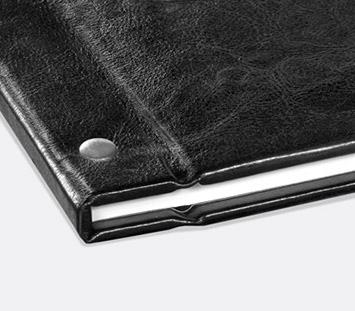 Couverture cuir vissée pour son livre personnalisé