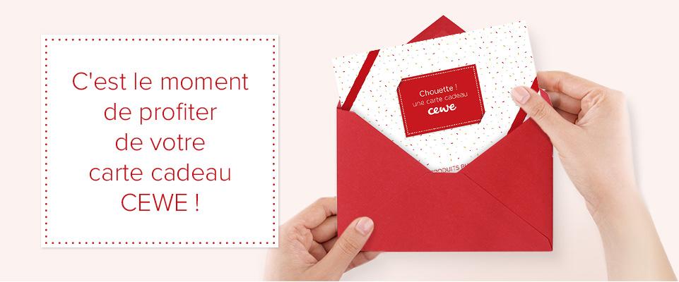 C'est le moment de profiter de votre carte cadeau CEWE !