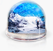 Boule à neige photo personnalisée cewe